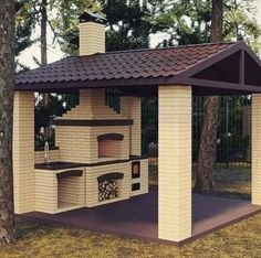 58 outdoor kitchen designs that look neat and comfortable for outdoor cooking 29 - kinal. Rustic Outdoor Kitchens, Outdoor Kitchen Patio, Outdoor Kitchen Design, Backyard Patio, Backyard Landscaping, Outdoor Decor, Outdoor Oven, Pergola Patio, Diy Patio