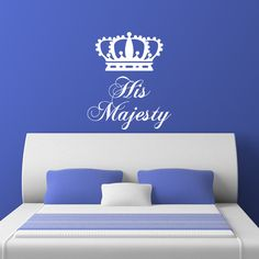 Nice His Majesty The King Crown V2 Wall Sticker