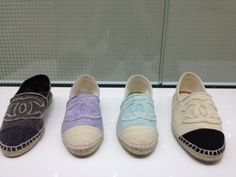 In every color, yes please! #chanel flats espradilles