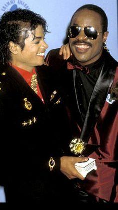 mj and Stevie Wonder