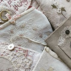 Textures.... I love the look and feel of vintage fabrics and threads, in case you haven't already noticed....