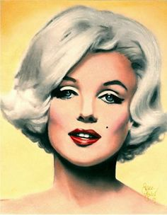 Marilyn Monroe portrait by Susan Goulet || This image first pinned to Marilyn Monroe Art board, here: http://pinterest.com/fairbanksgrafix/marilyn-monroe-art/ ||
