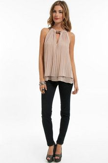 Pleated tunic top from Tobi.com