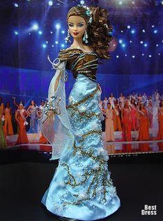 Ninimomo's Barbie.  Americas (North, Central, South).  2009/2010  Miss Costa Rica (Dress Hanna Tuoma)