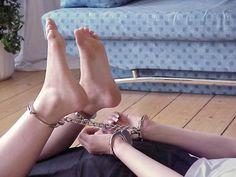 Bondage handcuffed handcuffs hogtied want her