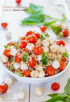 [Tomato, Mozzarella and Basil Quinoa Salad] + Click For Recipe!  #easyrecipes #recipes #weightloss