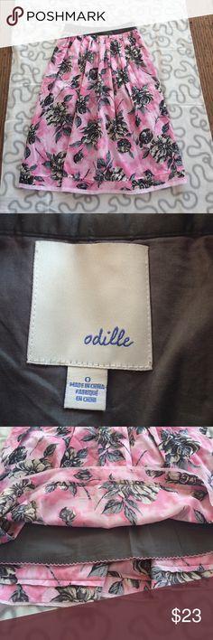 "ANTHROPOLOGIE Odille skirt ANTHROPOLOGIE Odille skirt / size 0 / side zipped closure / 2 sides pocket / waist 13"" length 26"" Anthropologie Skirts"