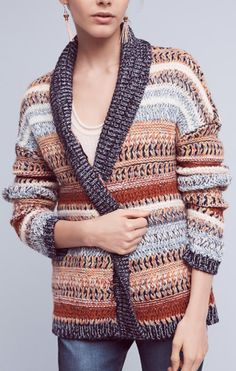 Anthropologie Knitted and Knotted Michela striped cardigan sweater size xs Striped Cardigan, Sweater Cardigan, Jumper, Shops, Fall Fashion 2016, Winter Fashion, Knitwear, Sweaters For Women, Sweatshirts