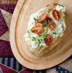 Baked Potato With Ricotta and Tomato