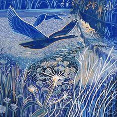 Linocut Prints, Art Prints, Collagraph, Linoprint, Wood Engraving, Wildlife Art, Woodblock Print, Bird Art, Female Art