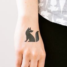 """""""Black Fox"""" Temporary Tattoo by TATTLY 
