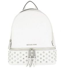 Michael Kors Shoulder Bag - Rhea Zip MD Backpack Optic White - in... (€200) ❤ liked on Polyvore featuring bags, backpacks, backpack, accessories, white, michael michael kors, white backpack, backpack shoulder bag, zip backpack and pocket backpack