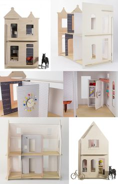 I am lOVing the doll houses and litle cities from lille huset and awful lot!! Alyson Beaton came up with the idea to create houses for kids made from recycled paper, but the front is made of wood! There are...