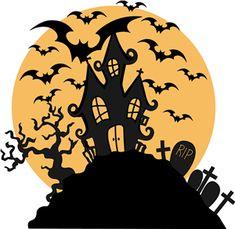halloween silhouette on pinterest. Black Bedroom Furniture Sets. Home Design Ideas