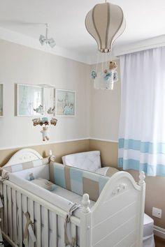 Quarto de beb bege e azul tema cachorrinho babies room - Baby jungenzimmer ...