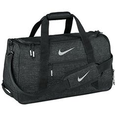 Nike Sport III Holdall Duffle Bag One Size Black Silver *** To view further for this item, visit the image link.