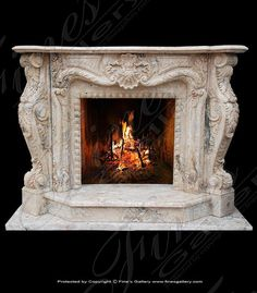 Marble Mantels | Fireplace Mantles | Marble Fireplaces | Hearths | Mantels | Custom Designed Emperors Garden Surround  Emperors Garden Surround  MFP-764