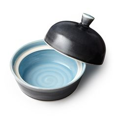Look what I found at UncommonGoods: classic blue butter dish...
