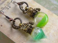 We love these super quirky Mad Scientist Vial Earrings from Jema Hewitt - find out how to make your own by watching the film today! www.bead.tv