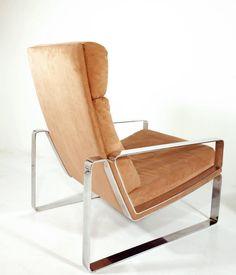 Chrome Lounge Chair and Ottoman 4