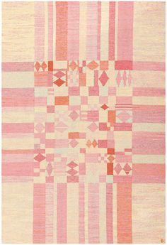 For Sale on - Vintage Scandinavian Swedish Kilim, circa century, vividly toned geometric shapes define this delightful, exciting vintage Swedish rug. An abstractly Textile Design, Textile Art, Quilt Design, Design Art, Scandinavian Quilts, Scandinavian Pattern, Illustration, Fibre, Quilting Designs