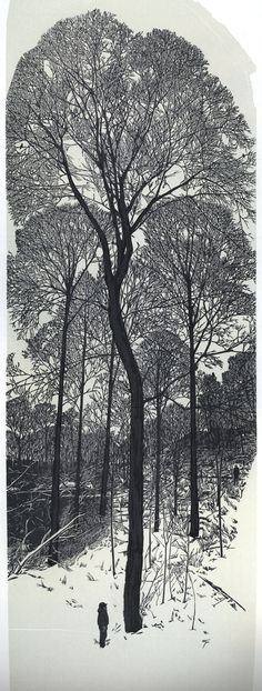 Wood engraving by Gaylord Schanilec from his book Sylvae (Stockholm, Wis.: Midnight Paper Sales, 2007), printed in an edition of 120 copies.