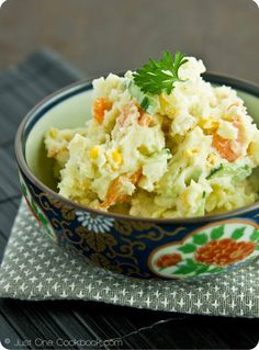 Japanese Potato Salad - we call this Korean potato salad at my house! My mom serves it on a roll like a sandwich.