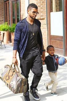 usher Aww his little boy is do cute