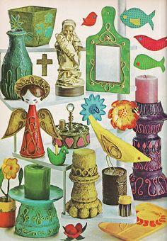 Fabulous Christmas craft ideas from 1971 Farm Journal Christmas Book.