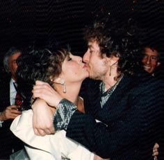 "anothersideofbobdylan: "" Bob and Elizabeth Taylor, 1987. """