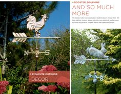 I could totally use one of these in my garden. Really neat vintage looking weathervanes!