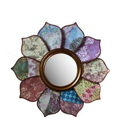 Loving this Floral Wall Mirror on #zulily! #zulilyfinds