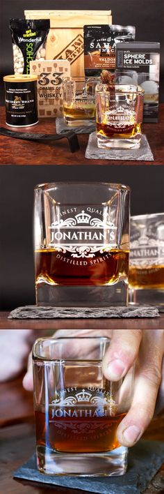 My dad will absolutely love sipping whiskey from a personalized glass. Here's to a classy Father's Day gift! #mancrates