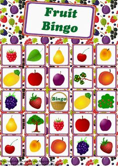 English for Kids Step by Step: Fruits and Berries Song for Kids (+ Counting to Bingo Games For Kids, Counting For Kids, Game Bingo, Fruit Song, Game Fruit, Fruit Names, Fruit Birthday, Burlap Christmas Tree, Fruits For Kids