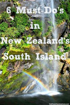 6 Must-Do's New Zealand South Island. Wish I had had this list when we were planning our trip to New Zealand!  Perfect for an active vacation/holiday!  http://ourfavoriteadventure.com