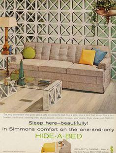 Vintage sofa-bed ad (1960)