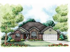 Eplans Traditional House Plan - Traditional Home - 1734 Square Feet and 2 Bedrooms from Eplans - House Plan Code HWEPL75610