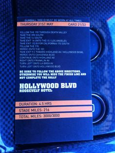 Route card to the finish in Los Angeles Gumball 3000, Death Valley, Route 66, St Louis, Rally, Kansas City, Las Vegas, Cards, Last Vegas