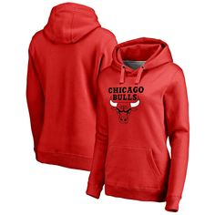 Chicago Bulls Women's Team Essential Pullover Hoodie - Red -