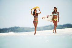 Dreaming of summer trips....  Alejandra and Alana Blanchard in Mirage Bikinis in Fiji providing some inspiration