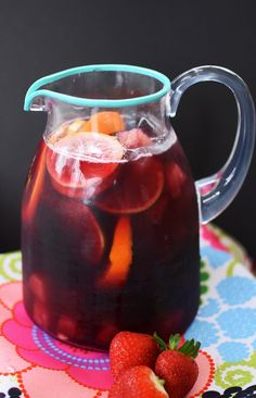 "Find your ""Happy Place"" with this Happy Place Sangria Recipe - perfect for any party or event on www.prettymyparty.com."