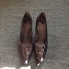 Aldo patent leather pumps Black size 35. Heels need to be heeled as shown in pic 4. ALDO Shoes Heels
