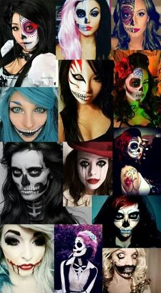 Halloween facepaint my trend for this year -T