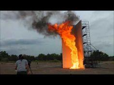 火災旋風の屋外実験#1 Fire whirl experiment in the outdoors - YouTube