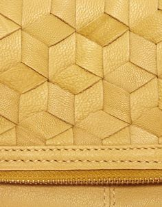 Image 2 of ASOS Leather Weave Clutch Bag