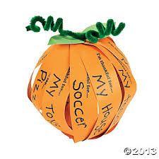 """I am thankful for"" pumpkin craft"