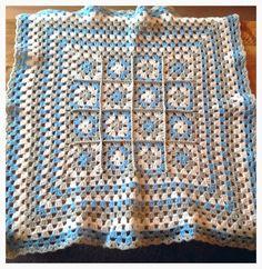 Granny square blanket .