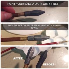 Faking metal is my fave part of cosplay making. Not that great of a tutorial but…