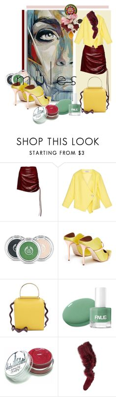 """Slip 'Em On: Mules"" by kari-c ❤ liked on Polyvore featuring Magda Butrym, The Body Shop, Malone Souliers, Roksanda, Charlotte Simone, Dolce&Gabbana and mules"