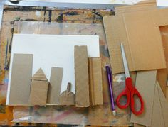 cardboard architecture. Mixed media